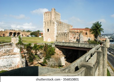 Diego Columbus palace ( alcazar ) in Santo Domingo, Dominican Republic