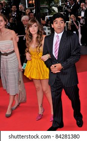 """Diego Maradona & daughter at the premiere of """"Che"""" at the 61st Annual International Film Festival de Cannes.  May 21, 2008  Cannes, France. Picture: Paul Smith / Featureflash"""