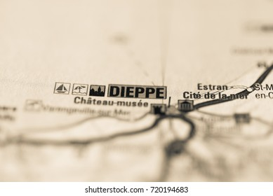 Dieppe on map.