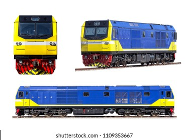 Diesel electric locomotive SET isolated