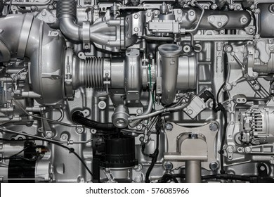 diesel engine close up