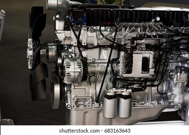 diesel engine close up