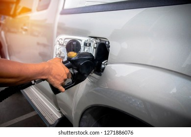 Diesel fuel is a must for pick-up trucks, although there are wastage, but it is extravagant expenses in gas stations : Copy space