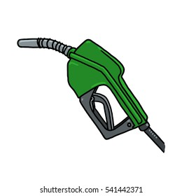 Diesel gas pump nozzle illustration