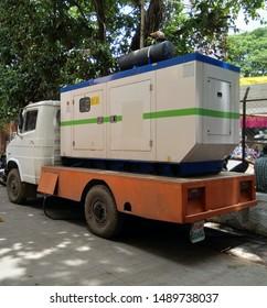 diesel generator mounted on truck.industrial diesel generator. diesel generator. rental diesel generator
