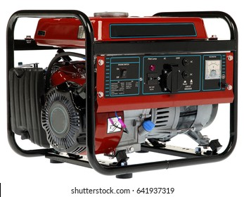 diesel generator on a white background
