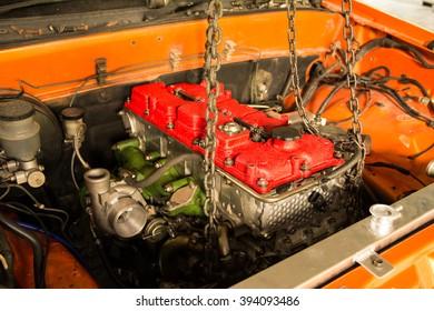 diesel racing car engine