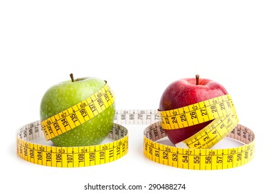 Diet: apples and tape measure