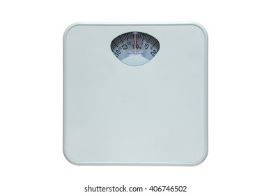 Diet bathroom weight foot scale isolated on white background. This has the clipping path.