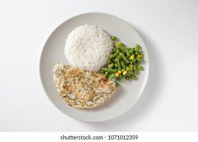 Diet dish on white