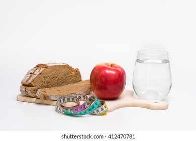 Diet Meal White Background