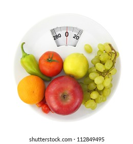 Diet and nutrition, weight lose scale concept