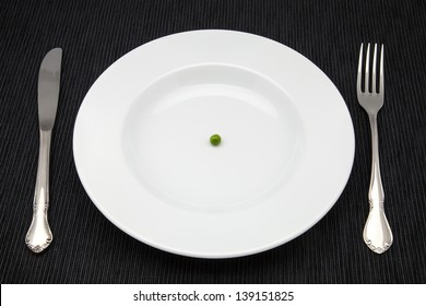 diet of a pea in a plate