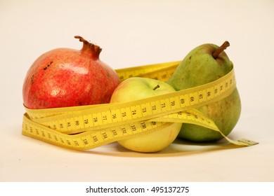 Diet / Pear, apple, pomegranate...