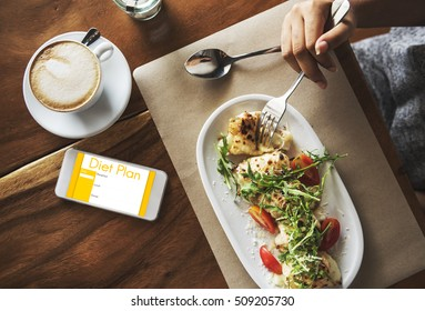 Diet Plan Nutrition Eating Selection Restriction Concept