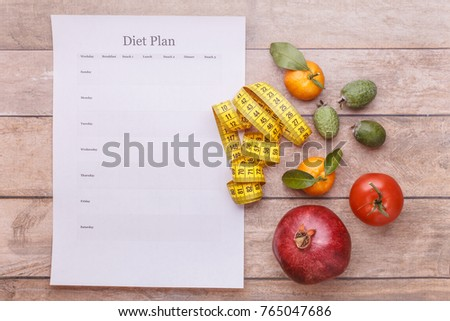 diet plan template each day week stock photo edit now 765047686