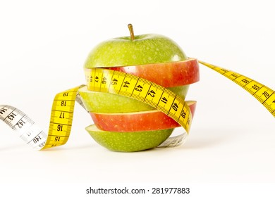 Diet, red, green apples