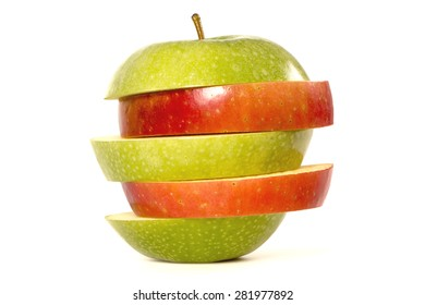 Diet, red  green apples
