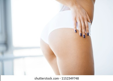 Diet and Skin Care. Beautiful Slim Woman Figure With Sexy Curves Girl Butt, Without Cellulite.