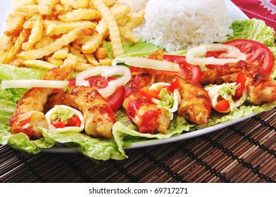 Diet surimi with rice and vegetable