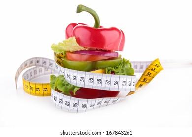 diet vegetable sandwich