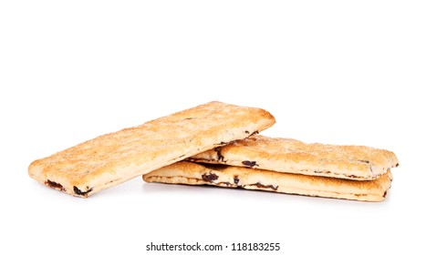 dietary cookies isolated on white