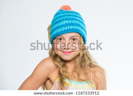 Difference Between Knitting Crochet Fall Winter Stock Photo