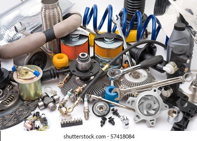 a lot of different auto spare parts