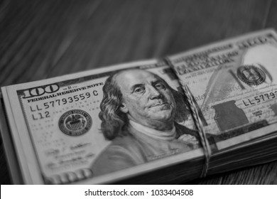 different bank notes dollars, money, bills