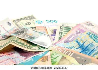 different banknotes