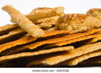 The different biscuits (shortbread) - sweet and salty