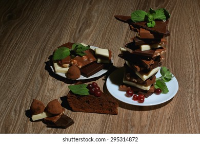 different chocolate mint dessert