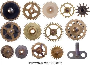 the different  cogwheels set isolation