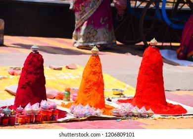 Different color of sindoor