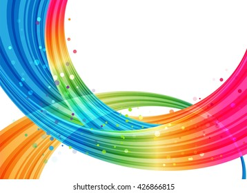 Different colored bound planes on a white background