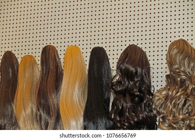 different colored hair pieces