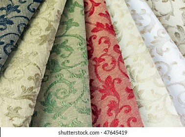 different colored materials for furniture upholstery