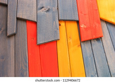 Different colored wooden slats as a background