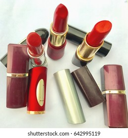 Different coloured lipsticks for female-fashion