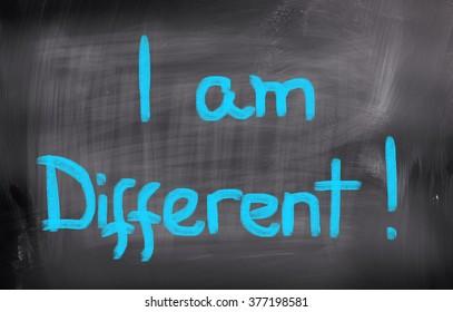 I Am Different Concept