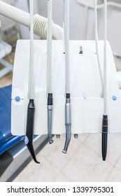 Different dental instruments and tools in dentists office