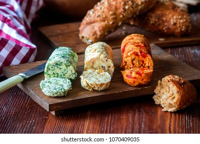 Different flavored aromatic butter