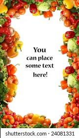 Different fresh tasty vegetables isolated fractal