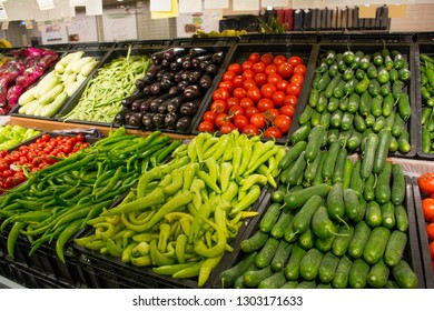 Different Fresh Vegetables in Buckets