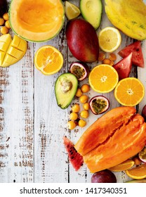 Different fruits on the table
