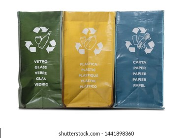 Different garbage bags for  home recycling