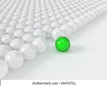 Different green ball
