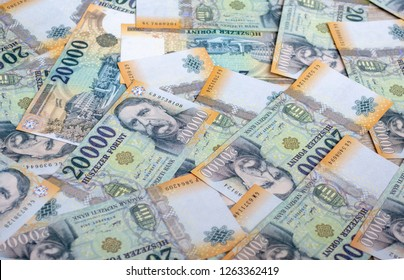 Different Hungarian banknotes, 20 thousand HUF. Hungarian banknotes.