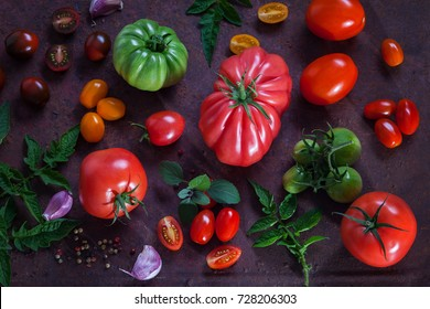 different kind of lovely tomatoes - fruits and vegetables