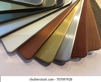 Different kinds of textured composite materials.